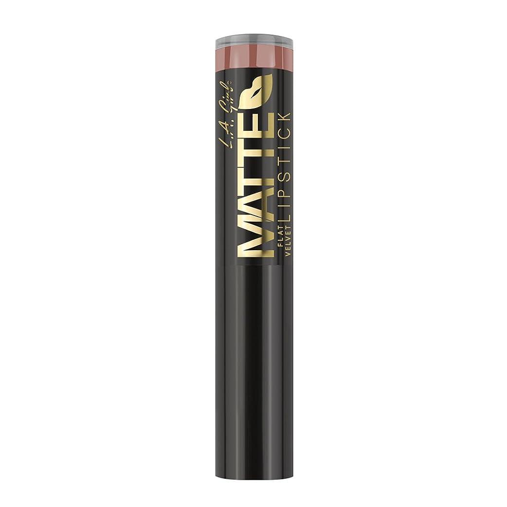 おんどり屋内で米ドルL.A. GIRL Matte Flat Velvet Lipstick Snuggle (並行輸入品)