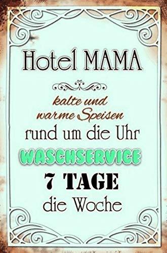FS Hotel Mama rond de klok service metalen bord gebogen metalen teken 20 x 30 cm