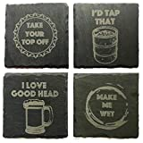 ✔ Each coaster measures 4 Inches ✔ Natural Slate Stone Coasters ✔ Handmade in the USA ✔ Every coaster is equipped with four foam pads on the bottom of your coasters to prevent from scratching your table surfaces ✔ For every custom piece we will send ...
