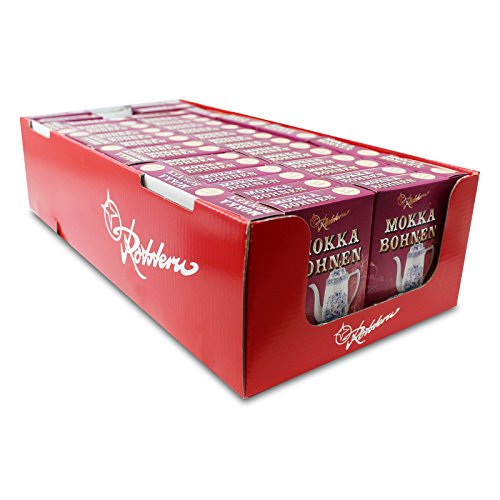 42er Pack Rotstern Mokka Bohnen (42 x 50 g) Mokkabohnen Zartbitterschokolade Ostprodukt, DDR