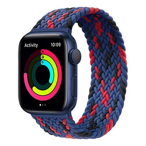 Trenzado Solo Loop Para Apple Watch Band 44mm 40mm iwatch band 42mm 38mm Tela Nylon elástico pulsera Apple Watch 6/5/4/3/2/1/SE