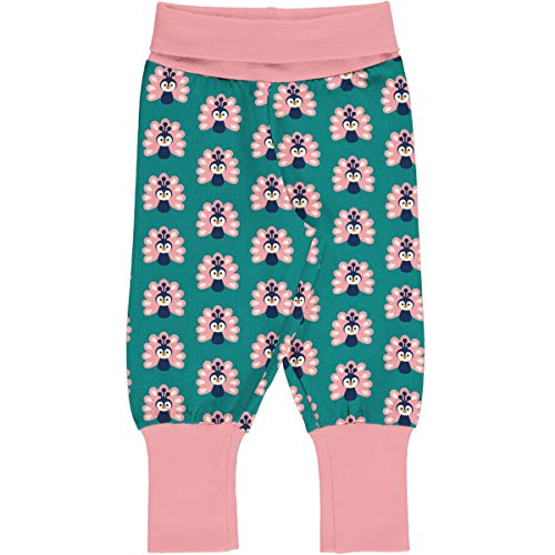 Maxomorra Baby Pants Rib Peacock 098/104