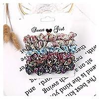 ヘアロープ ソリッドベルベットガールヘアロープザッキーズ花弾性ヘアバンド (Color : 4)