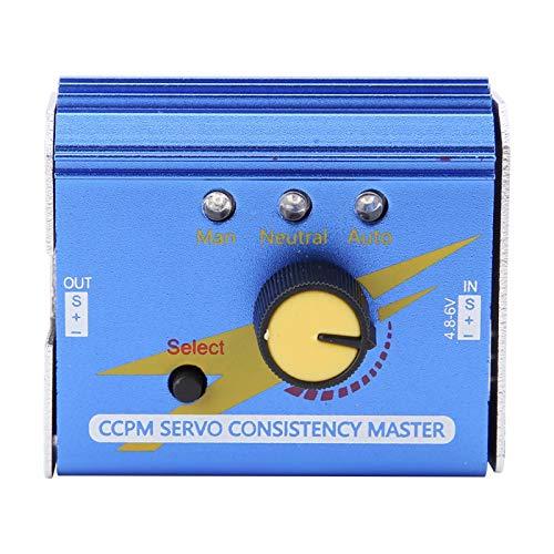 Probador de servo de Motor RC, CCPM Servo Consistencia Probador de Motor Maestro Probador de ESC Verificador de servo Modelo RC Accesorio de Pieza para avión RC Coche Barco