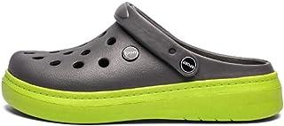 WYTX Zapatillas Planas Unisex de Verano Resbalón en Agua Transpirable Sandalias de Playa Croc Moda Zapatos de jardín Amari...
