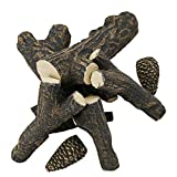 Utheer Fire Pit Fireplaces Fake Wood Logs Set with Pine Cones for Indoor Outdoor Vented, Gel, Ethanol, Electric,Gas Inserts, Propane Fireplace & Firepits