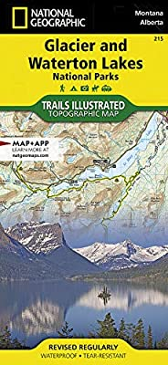 Glacier and Waterton Lakes National Parks (National Geographic Trails Illustrated Map, 215) by National Geographic Maps
