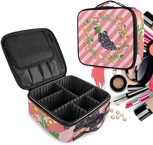 Cosmétique HZYDD Fruit Pourpre de Raisin Make Up Bag Trousse de Toilette Zipper Sacs de Maquillage Organisateur Poche for Compartiment Femmes Filles Gratuit