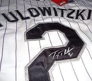 TROY TULOWITZKI signed COLORADO ROCKIES jersey W/COA