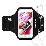 Haissky Armband de Téléphone Brassard de Sport Anti-Sueur avec Porte-clés et Sangle Réglable pour iPhone 11 Pro Max/11 Pro/X/8 Plus/7 Plus/6 Plus Samsung et Les Autres Smartphones inférieur à 6.5'
