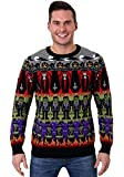 Adult Classic Horror Monsters Fair Isle Halloween Sweater - L