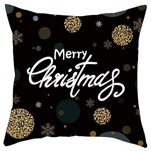Allegorly Kissenbezug Kissenhülle Kurzer Plüsch Dekokissen Weihnachten Drucken Dekorative Zierkissenbezüge Mit Verstecktem Reißverschluss Für Haus Dekoration