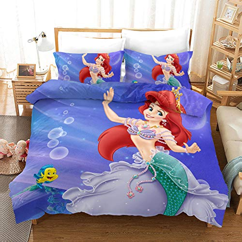Avvsovs 3D Bedding Sets Cartoon anime character 3 Piece Duvet Cover Sets Unique Bedding for Kids and Adults, Full Size Double 200 x 200 cm Zipper closure Duvet cover set boy girl child Bedding set