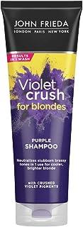 John Frieda Violet Crush Purple Shampoo, 8.3 Ounce Shampoo for Brassy Blonde Hair, with Violet Pigments