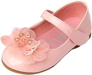 Femizee Kids Girls Wedding Shoes Ballet Flats with Flower(Toddler/Little Kid)
