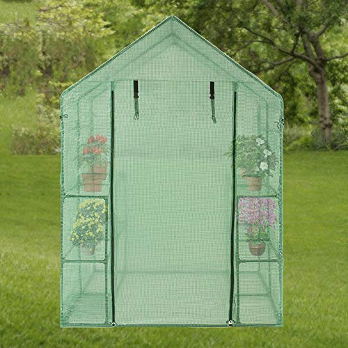 rosemaryrose gewächshaus klein überwinterungszelt -PVC Garden begehbares Gewächshaus - Pflanzenabdeckung