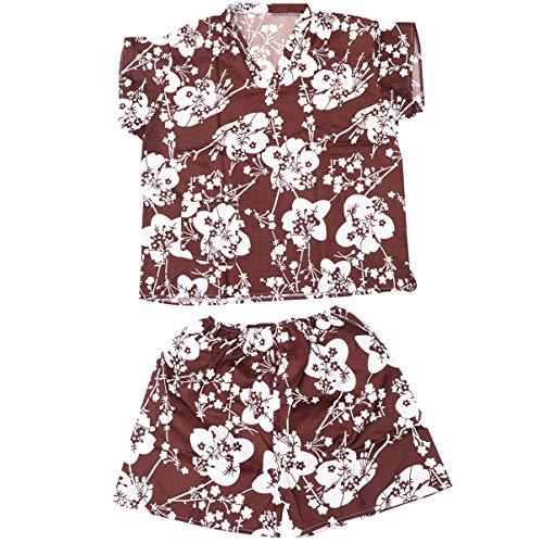 HEALLILY Pijama de Verano para Hombre Conjunto Traje de Vapor Sudor Albornoz Desechable Batas de Hotel para Hotel en Casa