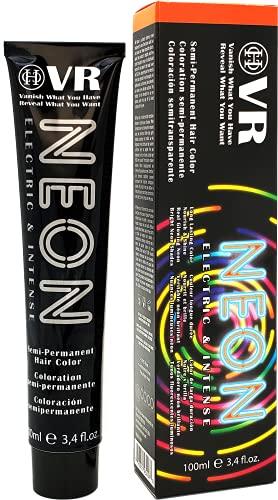 Cocohoney VR Neon Color Electric & Intense Semi-Permanant Hair Color | Vegan and Cruelty-Free | Long Lasting Color | Nourish & Shine | Real Glowing Neon | Bright Neon Shades (911 Lava Orange)