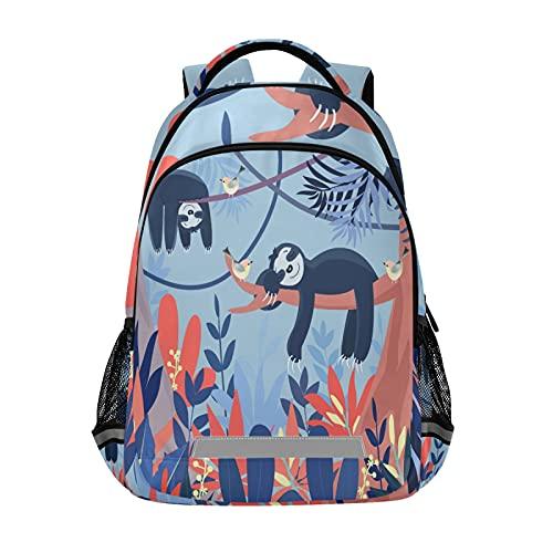 Mochila para portátil para niñas y niños escolares, duradera y linda bolsa azul con tira reflectante de 42,4 x 29,5 x 17,5 cm