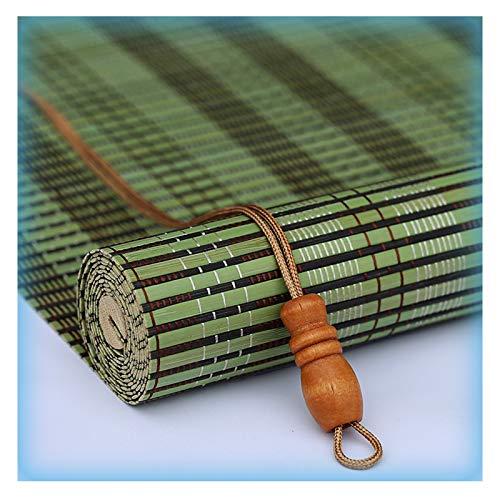 Pengfei - Estor enrollable de bambú para ventana, filtro de luz, a prueba de polvo, fácil de montar, color A, tamaño: 135 x 175 cm