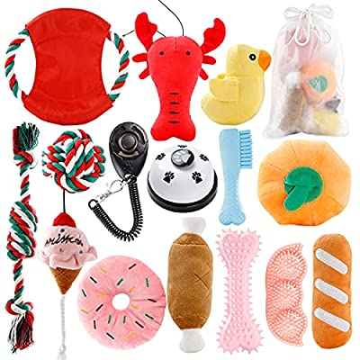 Amazon - 10% Off on Dog Chew Toys for Puppies Teething, FunPa 15PCS Dog Toy Pack Funny