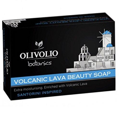 Olivolio botanics 100% Bio Vulkanasche/Lava Handseife ohne Mineralöl und Parabene - 100 g