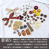 Paquete de material de flores secas Cono de pino seco Torre de cedro de loto Paquete de material de bricolaje Set 5