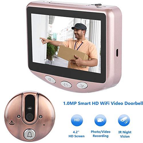 Video Türklingel, R101 720P 4,3 Zoll Smart HD IR Nachtsicht Intercom Türklingel Viewer Entry Access System Kit für Home Apartment