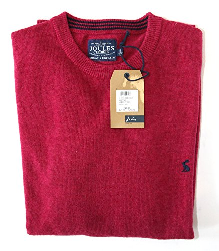 Joules Retford Pull à col rond pour homme Rose framboise Taille S