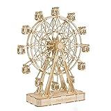 Robotime 3D Kids Puzzle Kits de Modelos de Madera Rompecabezas de construcción Regalo de desafío para la Edad de 8 años (Ferris Wheel)