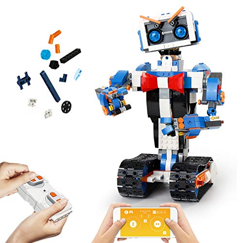 Mould King Remote Control Building Block Robot Kit with APP Control S T E M Robotic Building Block Toys Set for 6 7 8 9 10 11 12 13 Boys and Girls Gift 635 Pieces 13063