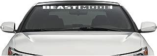 Xpin Graphics Beast Mode Windshield Banner Decal Sticker 36