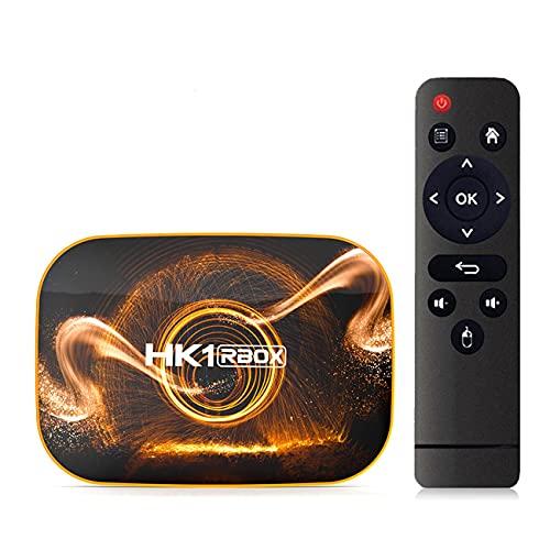 GEQWE Android TV Box, Android 10.0 TV Box USB 3.0 [4GB RAM + 128GB ROM] Dual-WiFi 2.4Ghz 5Ghz con BT4.0 RK3318 Quad-Core 32Bit 3D 6K H.265 Audio TV Box para Smart TV Box,4gb+32gb
