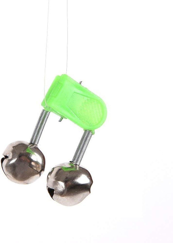 TOOGOO(R)50Pcs 4.5cm Outdoor Twin Bells Ring Fishing Rod Clamp Bite Lure Alarm