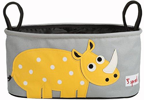 3 Sprouts Stroller Organizer, Rhino Color : Rhino