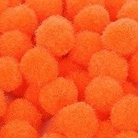 aeso 100x 200x 500x18mmミニポンポンクラフトカードメイキングギフトスクールプロジェクト - オレンジ