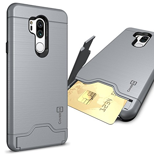 CoverON Credit Card Holder Protective SecureCard Series for LG G7 ThinQ Case, Gunmetal Gray