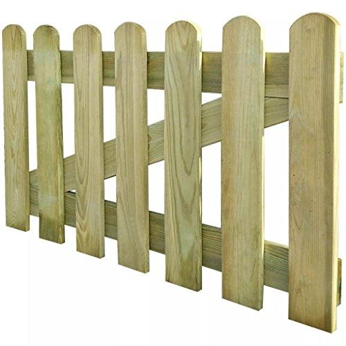 UnfadeMemory Gartentor Holz Zauntor Gartenpforte Holztor aus Imprägniertes Kiefernholz Verrottungsbeständig für Lattenzaun Gartenzaun 60/80/100/120/150cm Optional (100 x 60 cm)