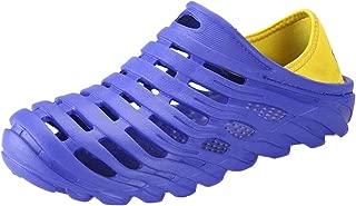 OrchidAmor Men's Waterproof Beach Sandals Elastic Heel Leisure Hollow Outdoor Casual Shoes 2019