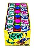 Fidget Pop - Spinner with 6 delicious lollipops flavors! Each box contains 18 16g pops
