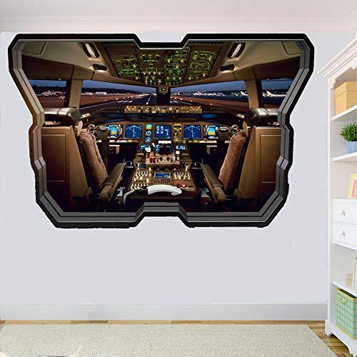 DCJ etiqueta de la pared Cabina de avión póster 3D decoración de la habitación calcomanía mural en la pasarela arte pegatinas de pared