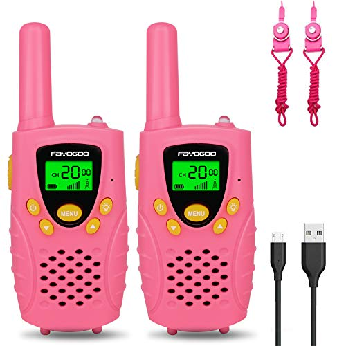 FAYOGOO Kids Walkie Talkies, 22-Channel FRS/GMRS Radio, 4-Mile Range Two Way...