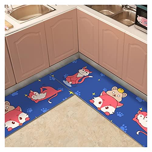 Alfombra de baño Calidad Cocina Alfombras Dibujos Animados PVC Pasillos de Pastillas de Piso Entrada F Tabado Impermeable A Prueba Aceiten Cocina Alfombras (Color : 10, Size : 1piece 60x100cm)