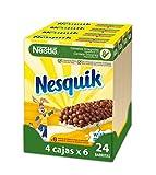 Barritas Nestlé Nesquik - 4 paquetes de 6 barritas, Total: 24 barritas