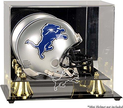 Detroit Lions Mini Helmet Display Case - Football Mini Helmet Free Standing Display Cases