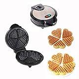 SHDS Máquina para Hacer gofres Acero Inoxidable 1200 W para el hogar Mini Plancha eléctrica portátil para gofres con sartén Antiadherente fácil de Limpiar para el Desayuno sándwich Pastel