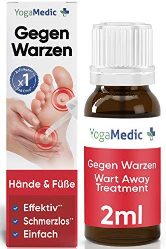 Warzenentferner für Hand & Fuß [NEU2021] YogaMedic® Effekt nach 1x auftragen - Mittel zum Warzen entfernen ab 4 Jahren - 2ml, für mehrere Behandlungen - Alternative zum Warzenpflaster, Vereisung