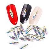 meicailin 100/lot Colorful 3D Strass für Nägel Maniküre Dekorationen Schlauch Eye Design Kristall...