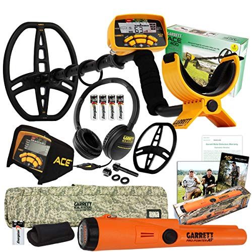 Garrett ACE 400 Metal Detector with Pro Pointer at, Headphones, Soft Case & More