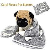 grey L 110x90cm HEYPET Coral Fleece Pet Blanket Dog Bed Cat Mat Soft Cat Bed Puppy Kitten Winter Warm Pet Supplies for Small Medium Dogs Cats
